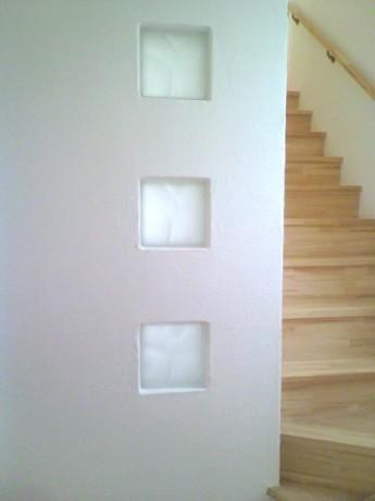 無添加住宅の階段