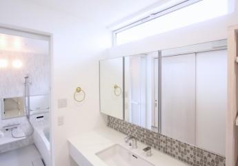I様邸 洗面 浴室