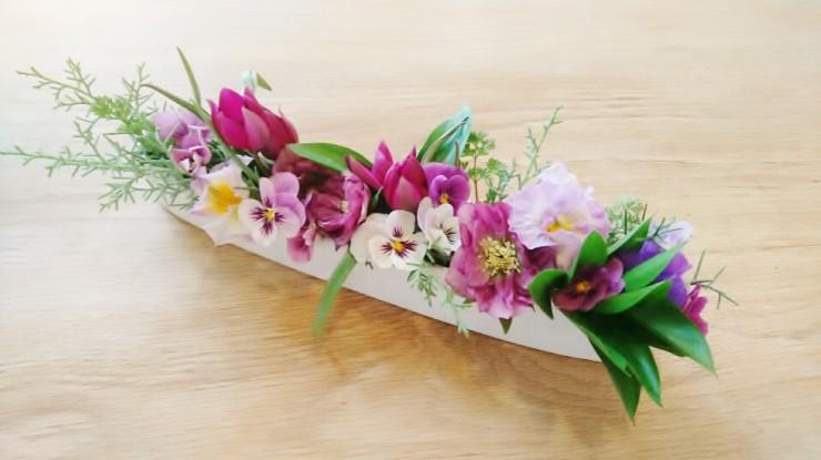ショールーム内のお花