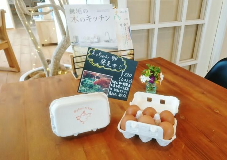 N'CAFEで販売中、まつもと農園のまっちゃん卵